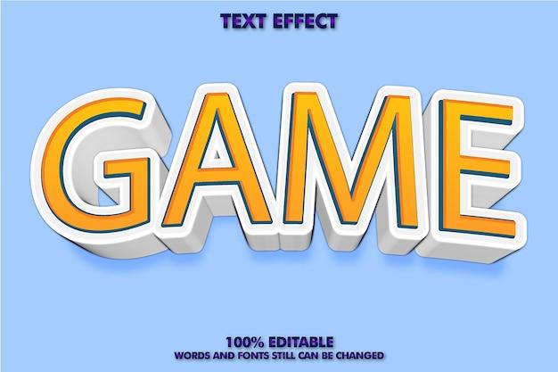 회사 또는 비즈니스 로고에 적합한 게임 텍스트 효과 디자인