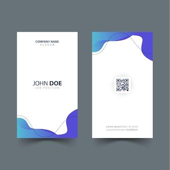 물결 모양 개체가 있는 id 카드 템플릿 디자인