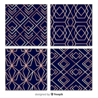 豪華なパターンコレクションの背景のデザイン