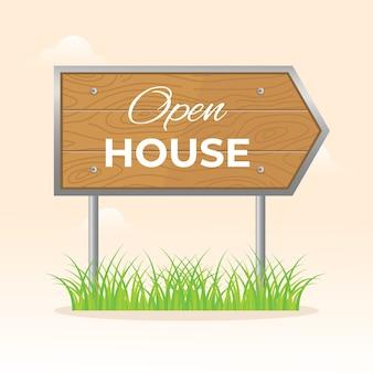 Дизайн для открытого знака дома