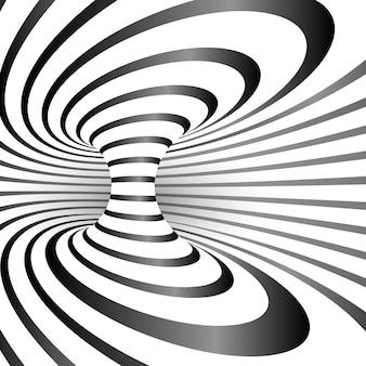 Дизайн оптической иллюзии фоновой иллюстрации