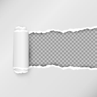 破れた紙片のイラストのデザイン