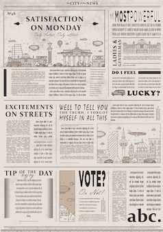 Design of old vintage newspaper template