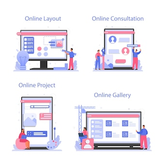 Design online service or platform set
