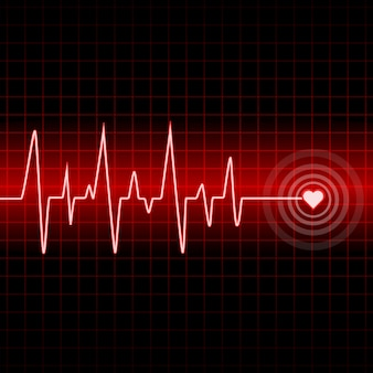 Design outline heartbeat with background