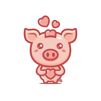 Design of a pig with love