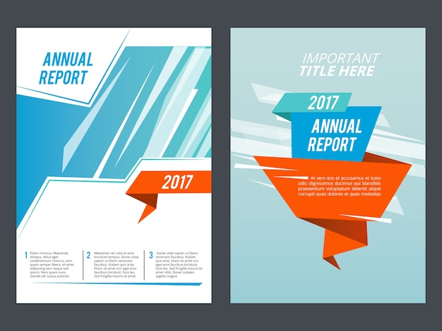 Design presentation. brochure or annual report layout  template. business page presentation  illustration