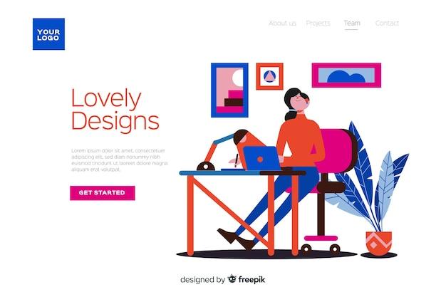 방문 페이지의 설계 프로세스 개념