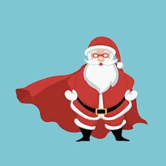 Design of santa claus superhero
