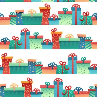 Design seamless pattern for christmas background and wrapping paper