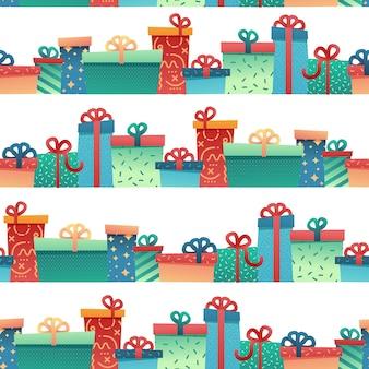Дизайн бесшовные модели для новогоднего фона и упаковочной бумаги
