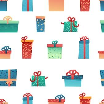 크리스마스 배경 디자인 완벽 한 패턴