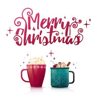 Design seasonal banner merry christmas