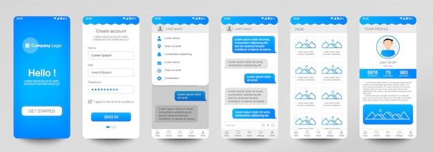Design of set mobile application, ui, ux.