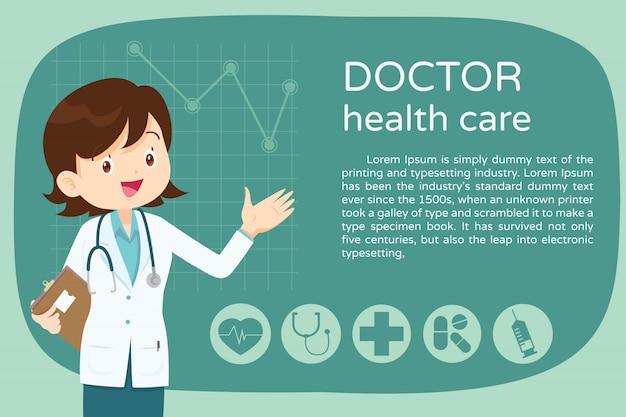 Design smart female doctor presentation