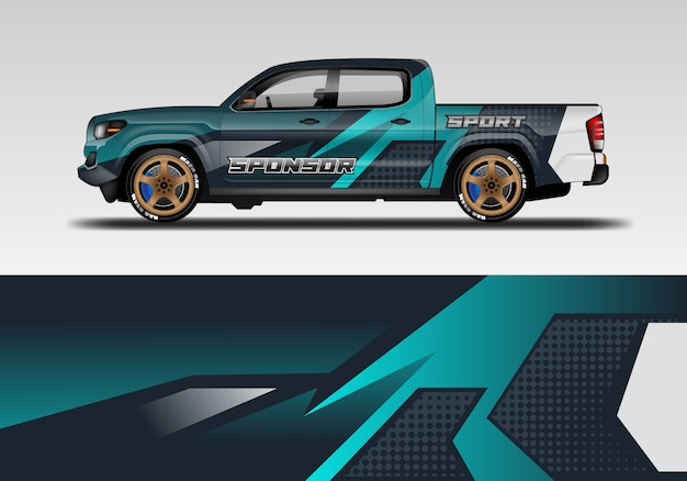 Design of sport car wrap