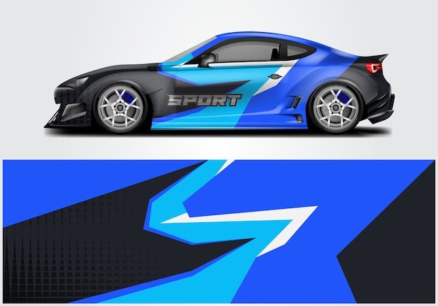 Design of sport car wrap