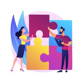 Illustrazione di concetto astratto della matrice della struttura di progettazione. rappresentazione visiva del progetto, analisi del sistema, gestione del progetto, team organizzativo, componente del prodotto, timeframe