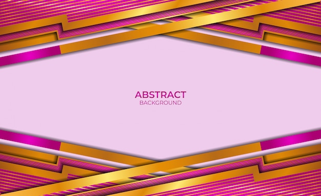 Design style gold and purple abstract