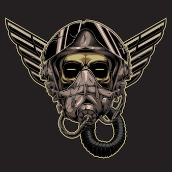Design tactical army air force in the dark background