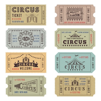 Design template of circus tickets
