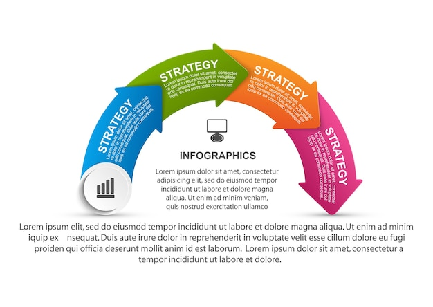 ビジネスプレゼンテーションや情報バナーのデザインテンプレート
