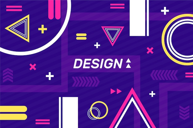 Design template with geometric shapes background