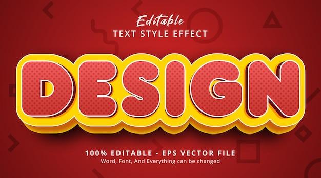 モダンな赤いグラデーションスタイルの効果、編集可能なテキスト効果のデザインテキスト
