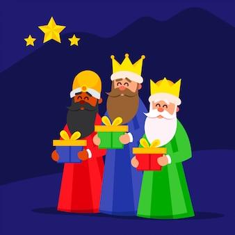 Создай три красочных и веселых волшебника
