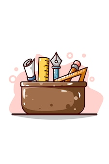 Design toolbox illustration hand drawing