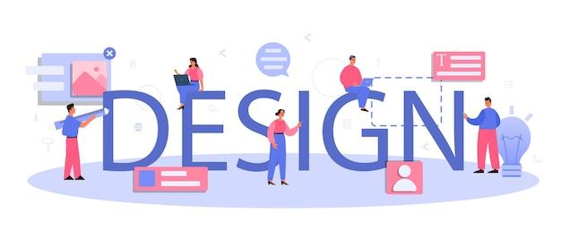 Design typographic header illustration