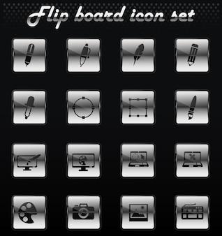 Design vector flip mechanical icons for user interface design