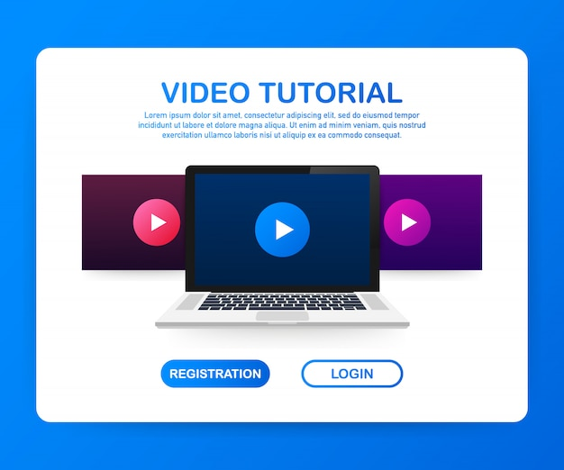 Design website flat design concept video tutorial.