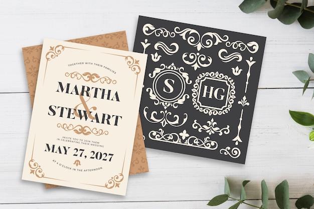 Design per modello di invito di matrimonio