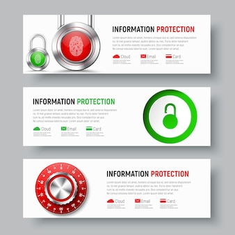 Design of white banners to protect data and information