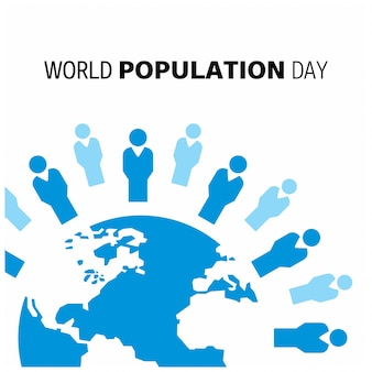Design with globe for world population day