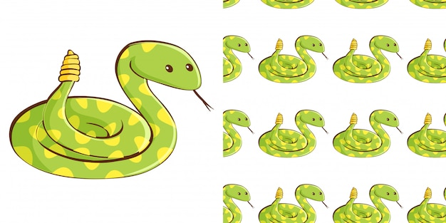 Design con serpente verde senza cuciture