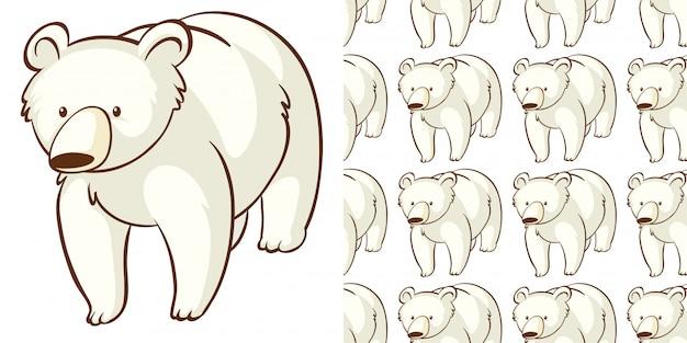 Design with seamless pattern polar bear