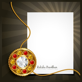 Design with sheet of paper for raksha bandhan