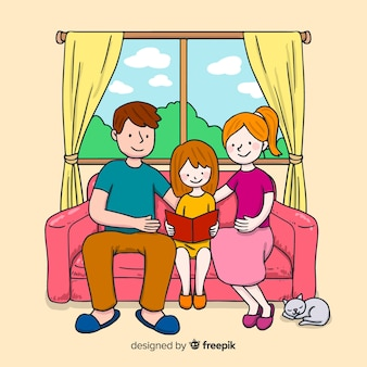 Design of young family at home