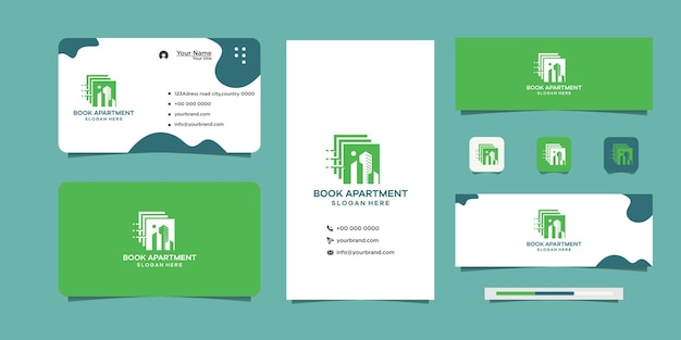 Design your building book logo and business card