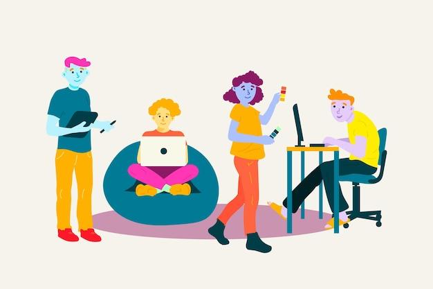 창조적 인 사람들과 디자이너 컬렉션