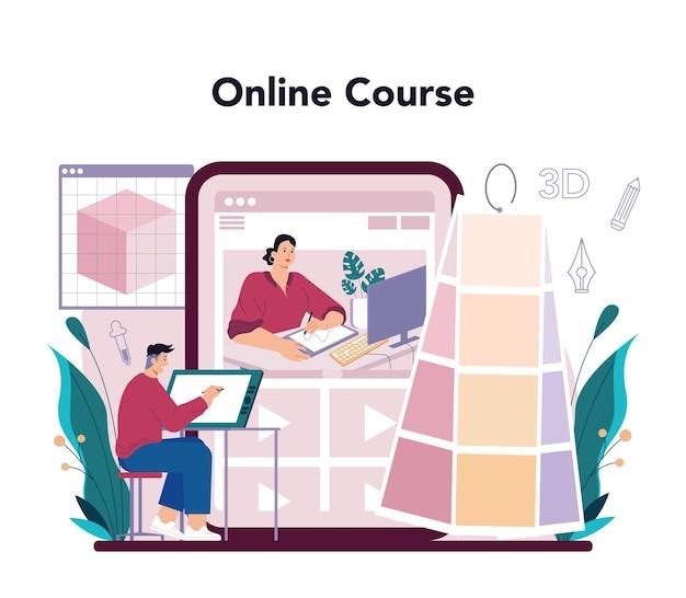 Дизайнер d онлайн-сервис или платформа для цифрового рисования d принтер
