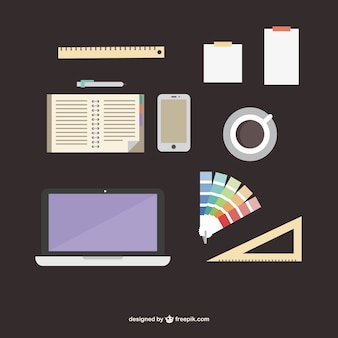 Designer office supplies flat kit