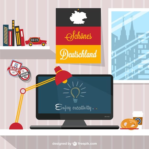 Designer's workspace german style