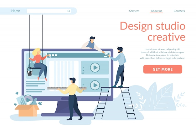 Designers creating site interface, ui, ux develop