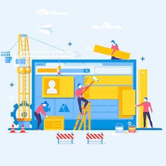 Designing a website or application