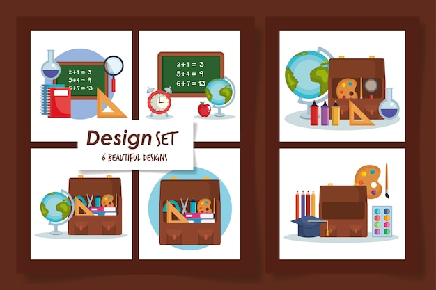 Designs of school education supplies