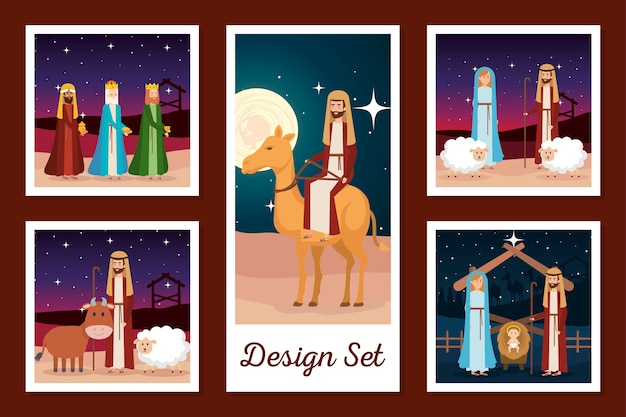 Designs set of manger characters