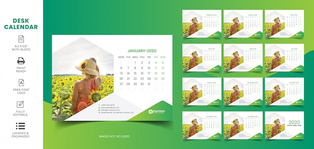 Desk Calendar 2020 Images Free Vectors Stock Photos Psd